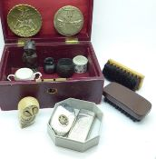 A jewellery box and assorted items