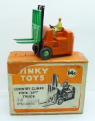 A Dinky Toys 14c Coventry Climax Fork Lift Truck, boxed