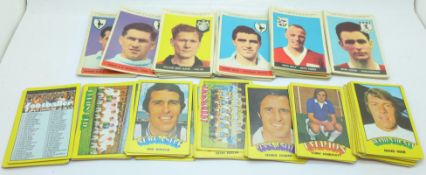 Football cards, A&BC Planet Ltd., (37) and early 1970's collection with red back, (57)