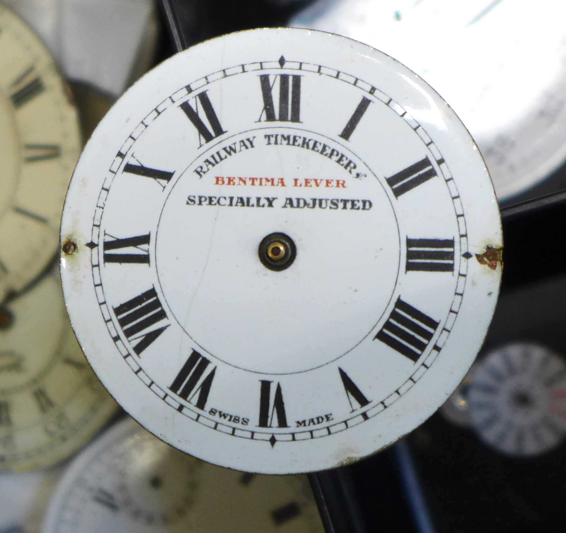 A large collection of pocket watch movements and dials plus an Action Timer stopwatch - Image 4 of 6