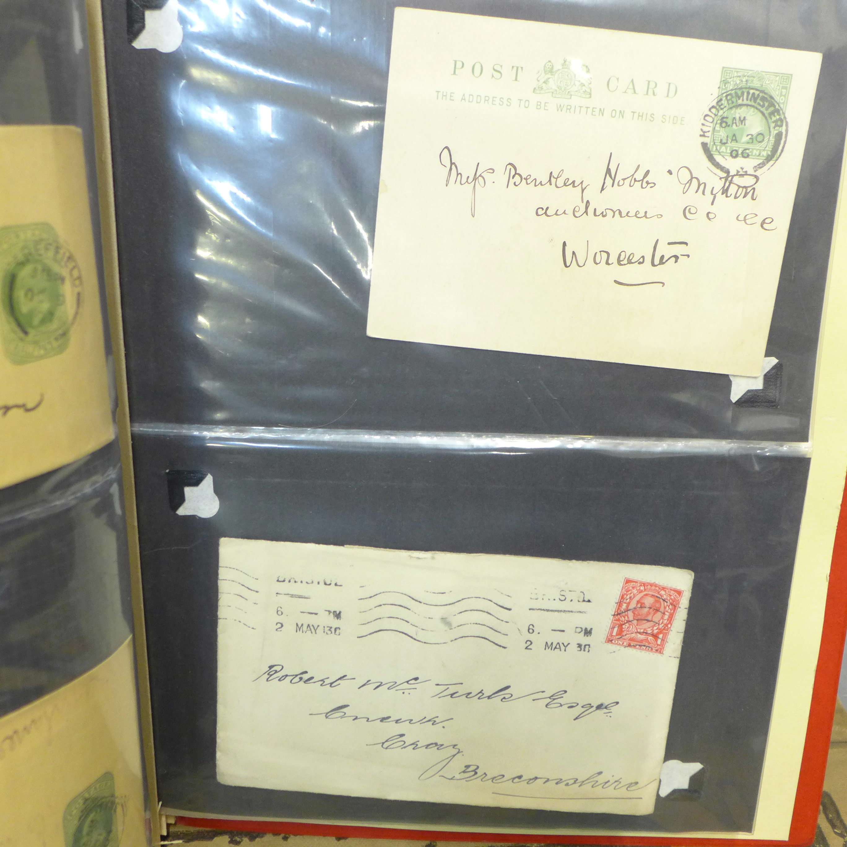 Stamps;- GB postal history in album, pre-stamp (4 no.) 1d imperfects (5 no.), etc. (52) - Image 6 of 8