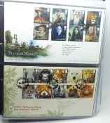 Stamps; GB first day covers from 2011-mid 2015, all typed address and special bureau postmark (75)