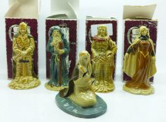 Wade, The Camelot Collection figures, boxed