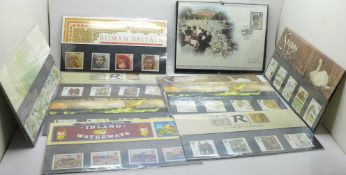 Eleven Royal Mail Mint Stamp (two duplicates) and a Diana First Day Cover