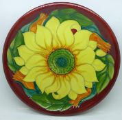 A Moorcroft plate, 26cm