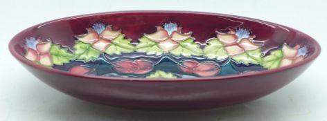 A Moorcroft Morello cherry bowl, exclusive to Moorcroft Collectors Club 1995 by Rachel Bishop,