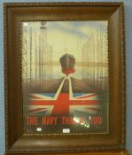 A WWII poster, The Navy Thanks You