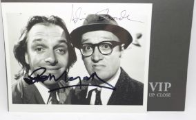 The Young Ones photograph signed by Rik Mayall and Adrian Edmondson