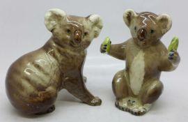 Two Beswick model koalas