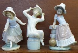 Two Lladro figures, A Steppin Time, no. 5158, designer Jose Roig, issued 1982-1998, 22.5cm and a