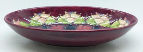 A Moorcroft Morello cherry bowl, exclusive to Moorcroft Collectors Club 1995 by Rachel Bishop