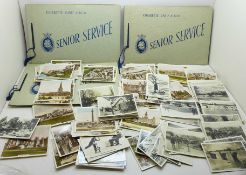 A collection of cigarette cards, Senior Service and Sunripe and Spinet Oval