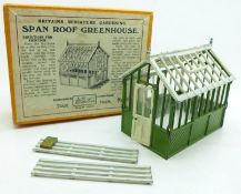 A Britains Miniature Gardening Span Roof Greenhouse, boxed
