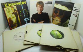"Beatles interest: A John Lennon collection of twenty 7"" singles"