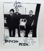 Autographs: Depeche Mode, signed picture