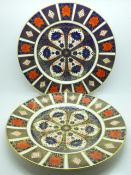 Two Royal Crown Derby 1128 pattern plates, 27cm, first quality