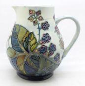 A Moorcroft Bramble pattern jug by Sally Tuffin, 15cm