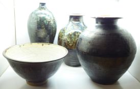 Edward Campden (1931-2020), four stoneware vases, dated 1987, 1990 and two x 2000