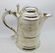 A Victorian silver plated tankard, 19cm