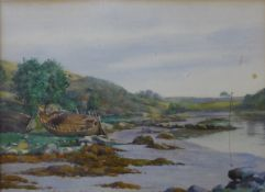C.M. Alson, The River Aven (Near Pont Aven, Brittany), watercolour, 23 x 32cms, framed