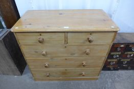 A Victorian pine chest of drawers