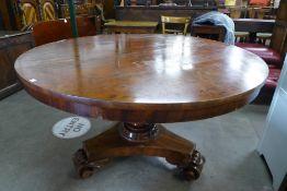 A William IV mahogany circular tilt top breakfast table