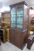 A Victorian stained pine bookcase