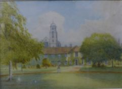 Manner of Robert Weir Allan R.W.S. (1851-1942), view of a country house, watercolour, 17 x 24cms,