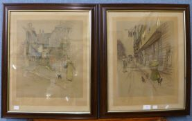 A set of six signed Cecil Aldin arts proof prints, Fine Art Trade Guild blind stamps to margin, 44 x