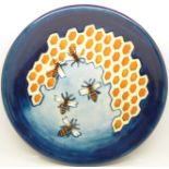 A Moorcroft Honeycomb pattern plate, 263mm