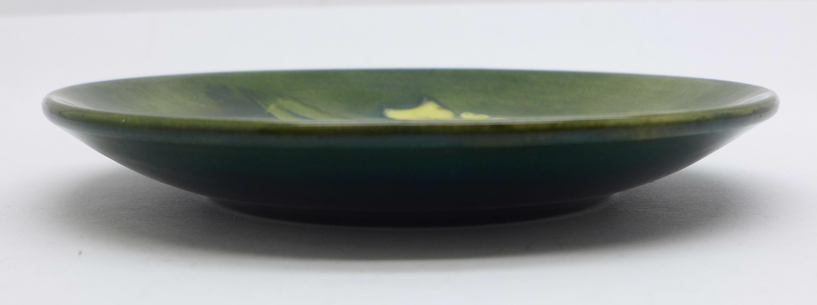 A Moorcroft dish, 11.5cm diameter - Image 3 of 4