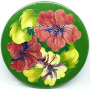A Moorcroft hibiscus plate, 262mm