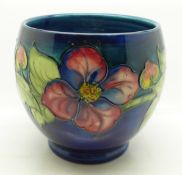 A Moorcroft clematis vase, crazed, 13cm