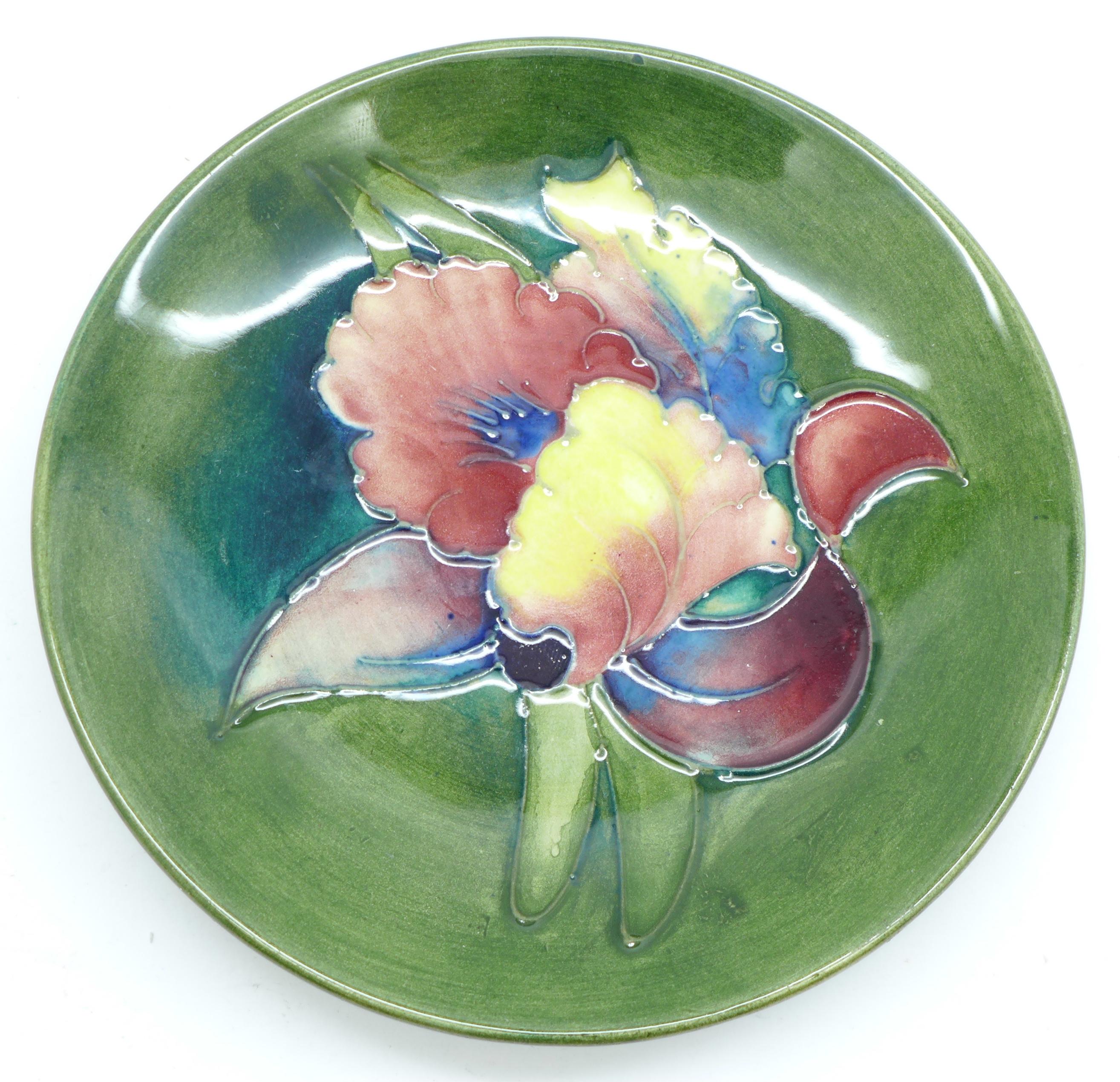 A Moorcroft dish, 11.5cm diameter - Image 2 of 4