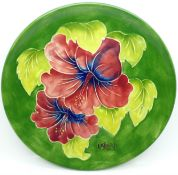 A Moorcroft Year Plate, Second Edition 1983, Limited Edition 150/250, with box and signed