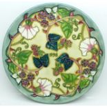 A Moorcroft Limited Edition Year Plate 1998, 211/750, no box, 22cm