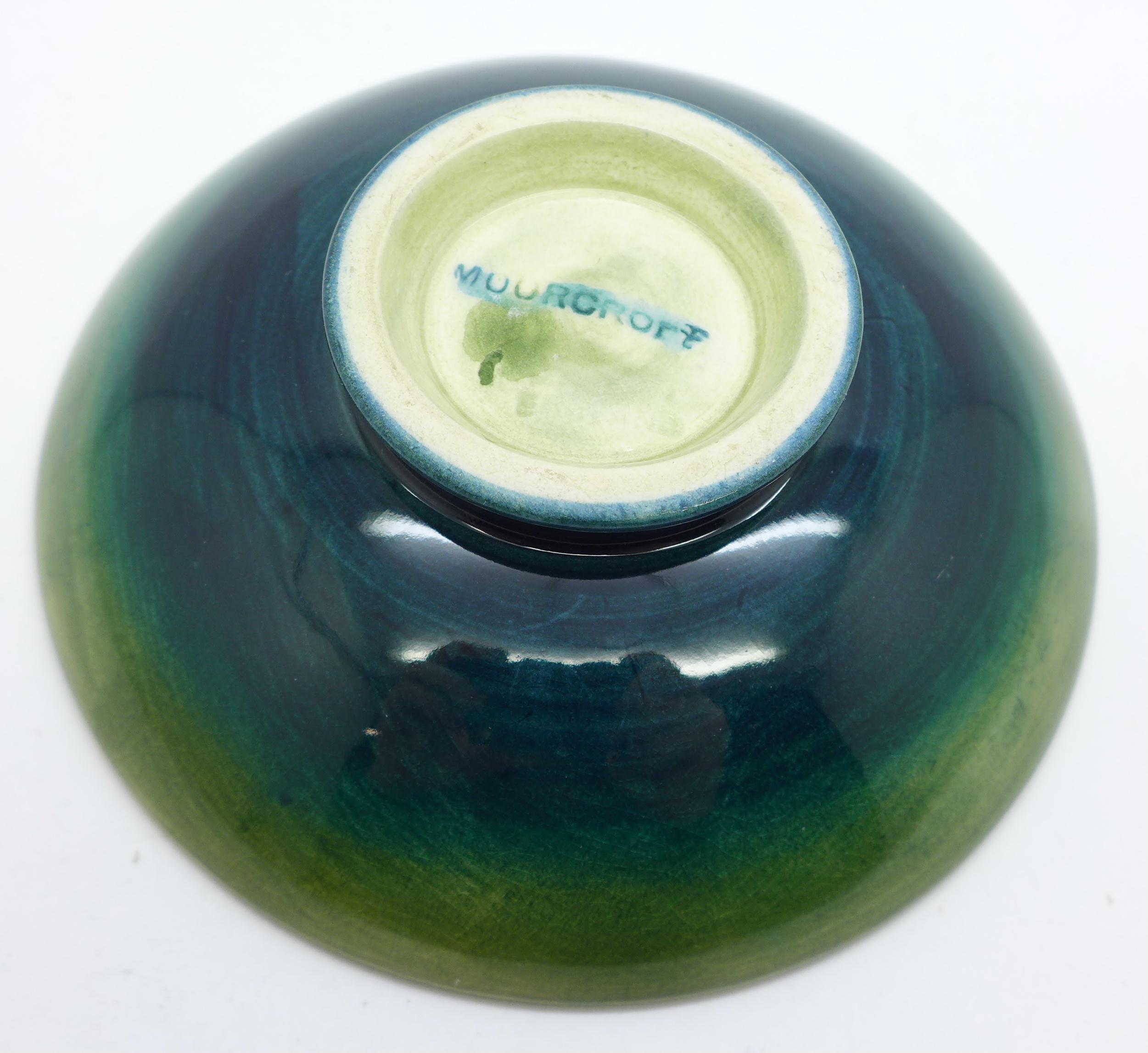 A Moorcroft freesia dish, 108mm diameter - Image 3 of 3