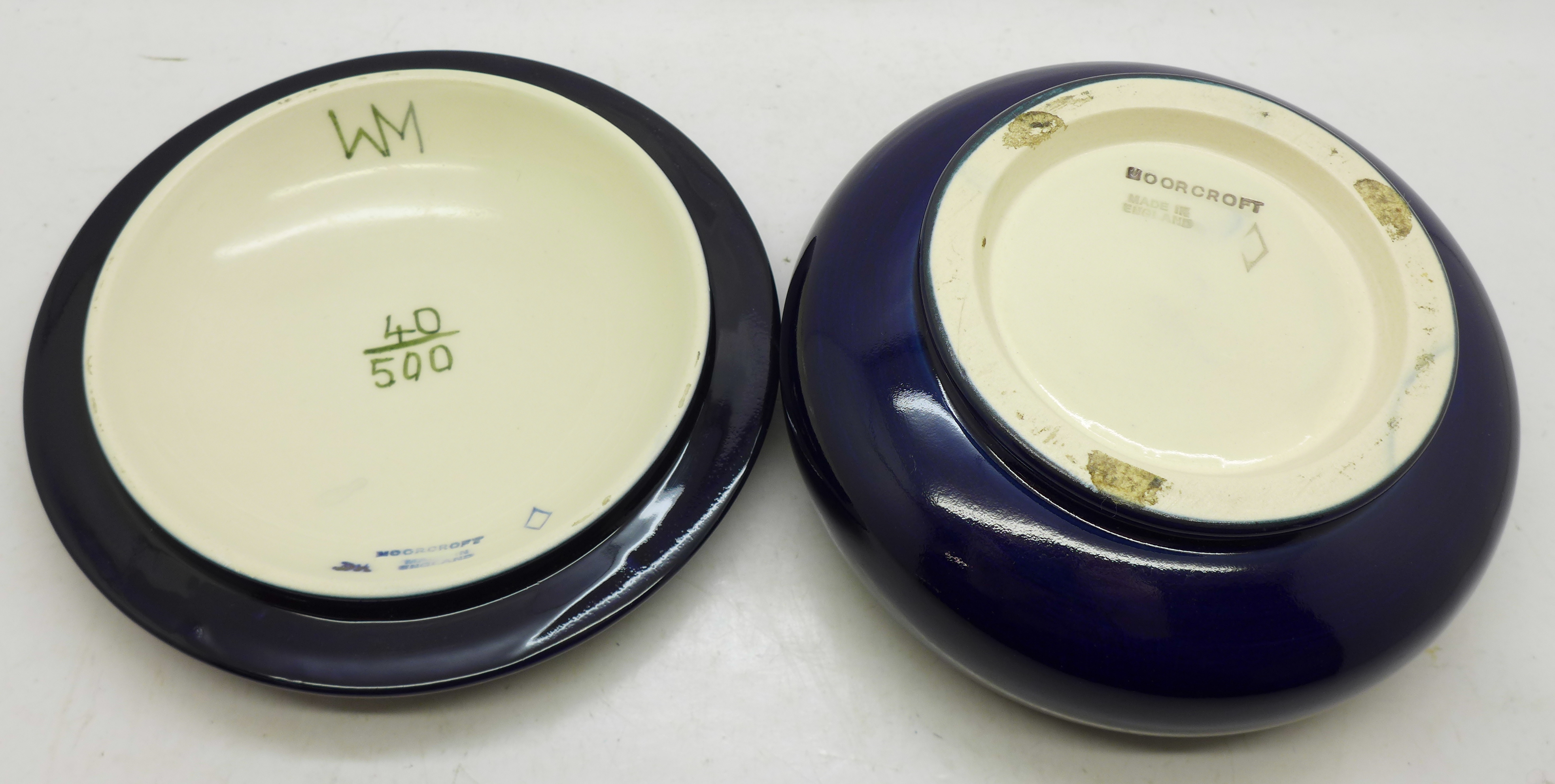 A Moorcroft Limited Edition lidded dish, 40/500, 122mm diameter - Image 5 of 5