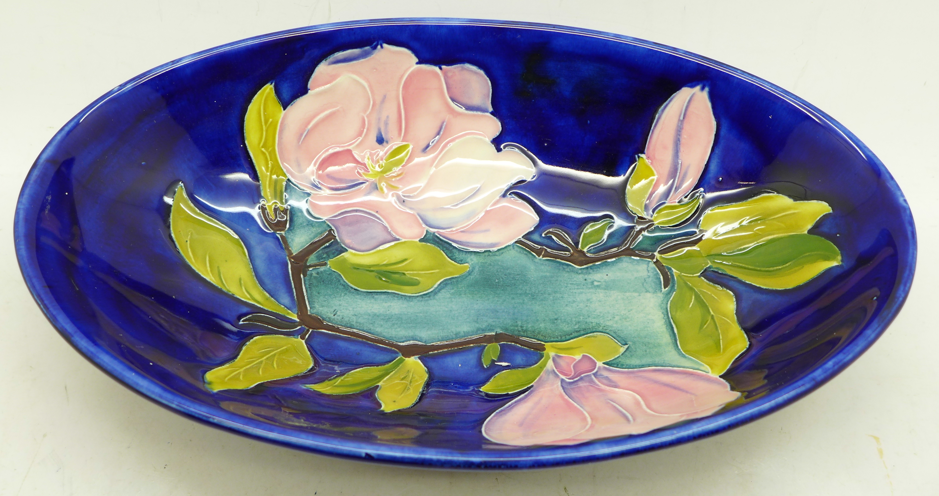 A Moorcroft magnolia oval dish, 23cm - Image 2 of 4