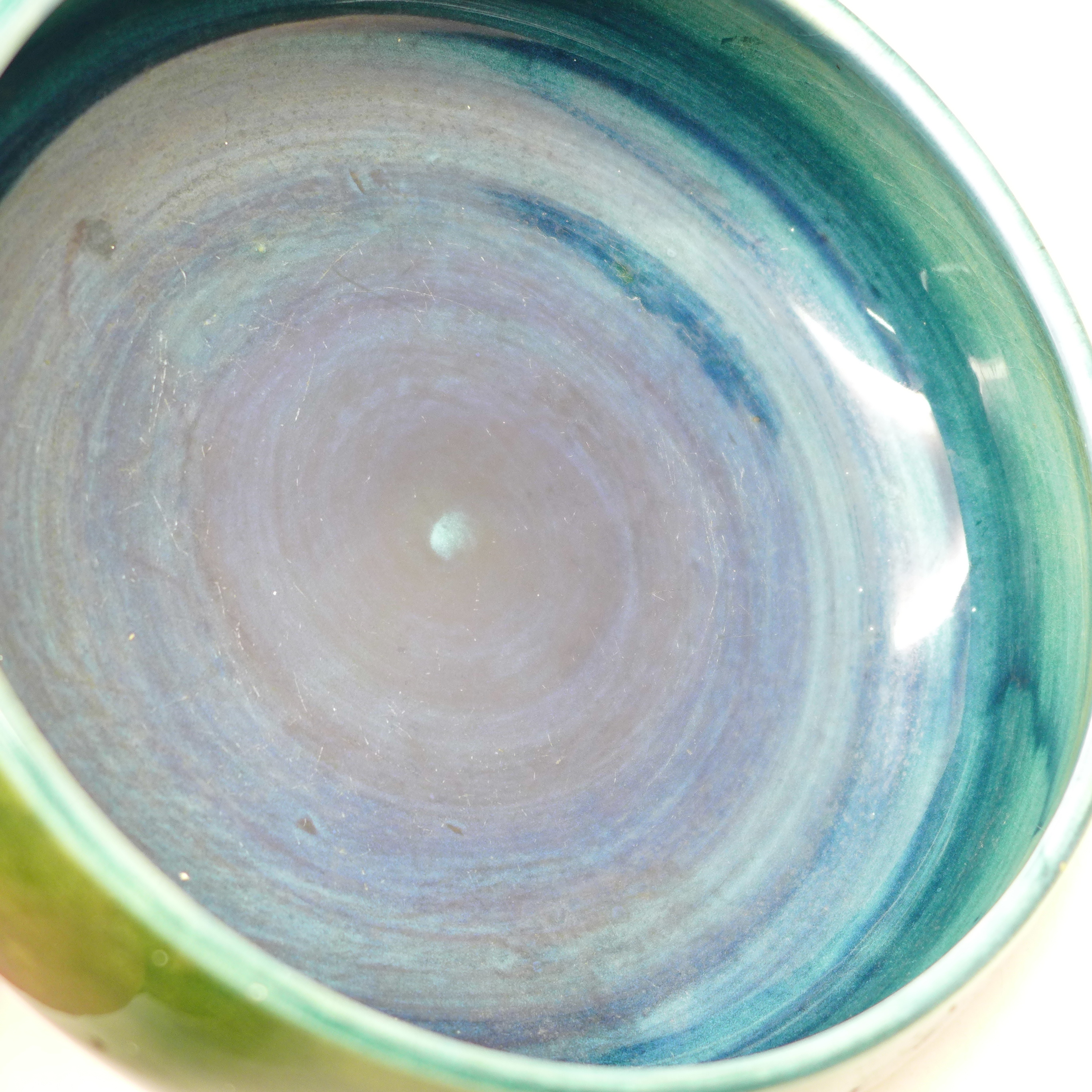 A Moorcroft anemone dish, 13.5cm diameter - Image 4 of 5