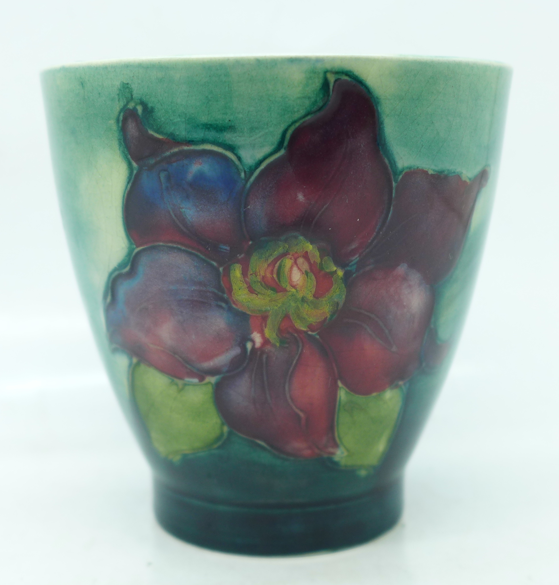 A small Moorcroft clematis vase, 72mm - Image 3 of 5