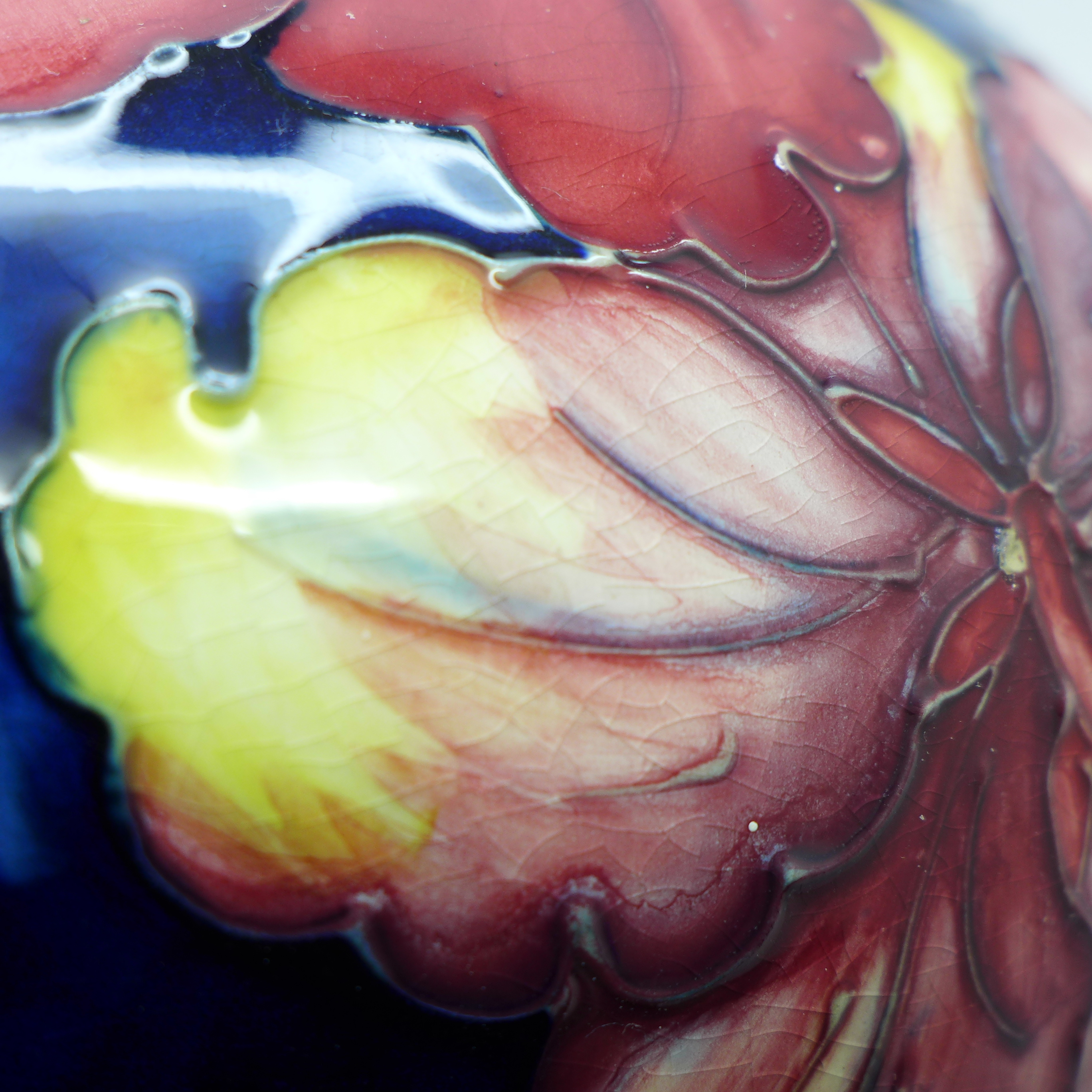 A Moorcroft hibiscus table lamp base, 27cm - Image 6 of 7