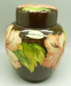 A Moorcroft hibiscus ginger jar, 14.5cm