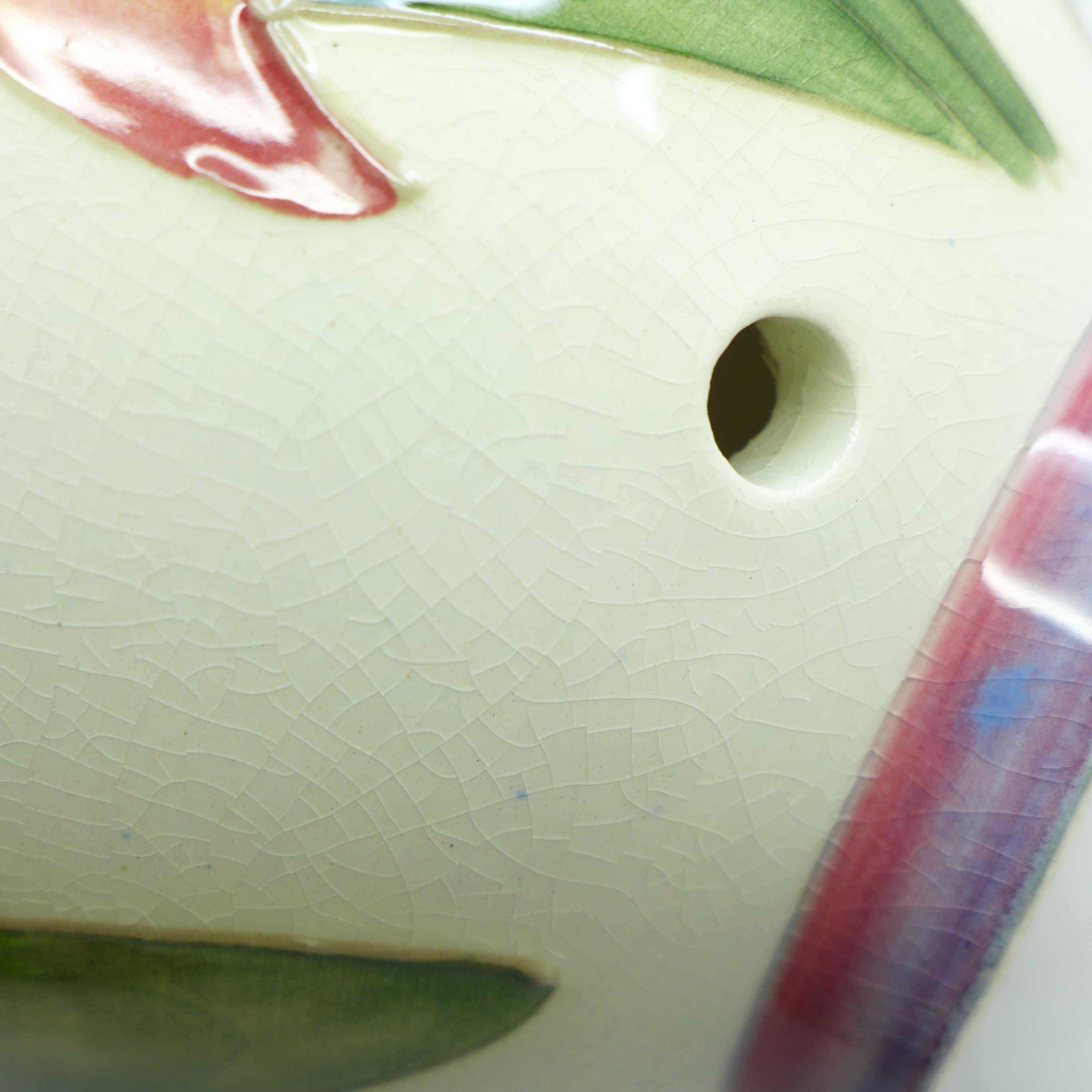A Moorcroft orchid table lamp base, 17.5cm - Image 6 of 7