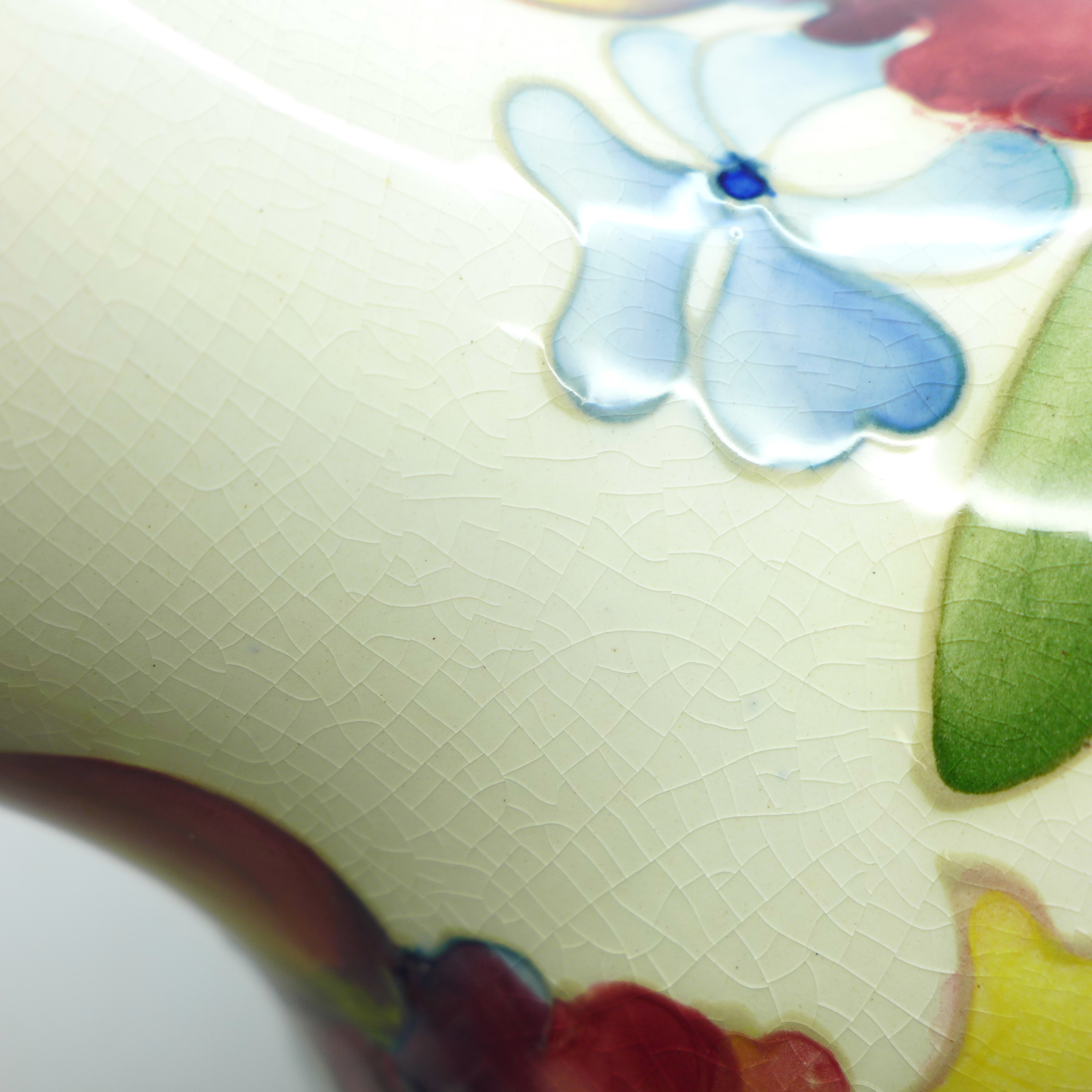 A Moorcroft orchid table lamp base, 17.5cm - Image 7 of 7