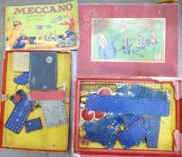 A Meccano No.6 outfit, box a/f, not complete