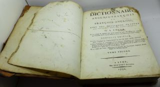 An English-French dictionary, 1792, a/f