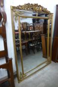A large French style gilt framed mirror, 192cms h x 136cms w (M24202) #