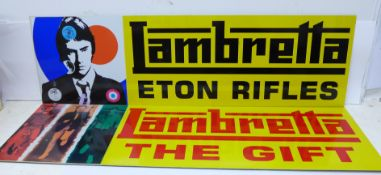 The Jam; two Lambretta plaques, The Gift and Eton Rifles