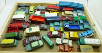 A collection of Matchbox Lesney model vehicles, playworn